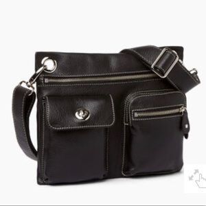 Roots Leather Village Bag Black